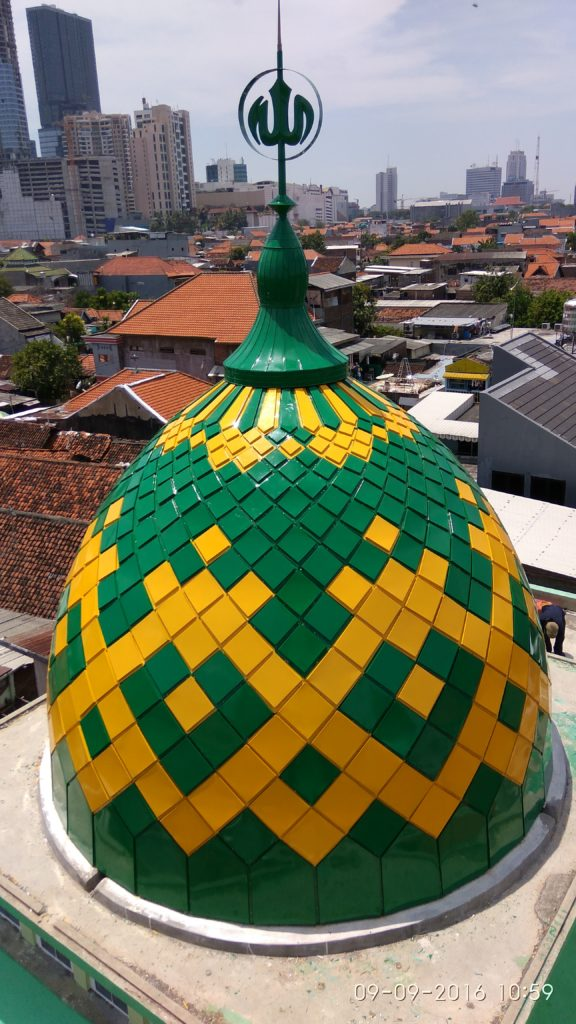 Kubah Masjid Sabilillah Kedung Klinter Surabaya